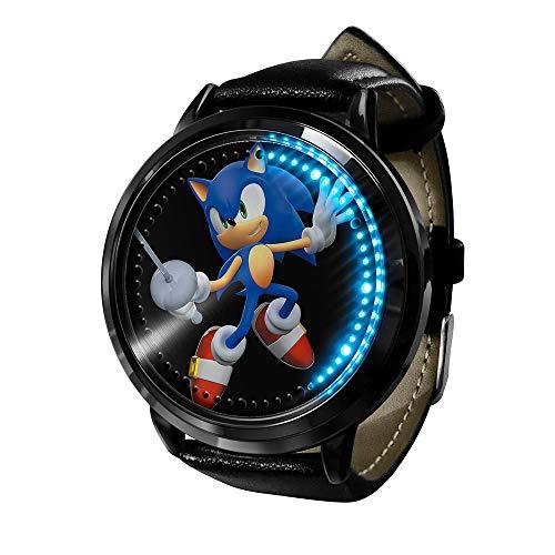 Uhr Sonic The Hedgehog Uhr Led Touchscreen Wasserdicht Digitallicht Uhr Armbanduhr Unisex Cosplay Geschenk Neue Armbanduhren Kinder-A4