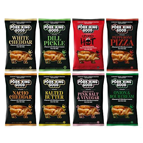 Pork King Good Pork Rinds - Variety 8 Pack (Chicharrones)
