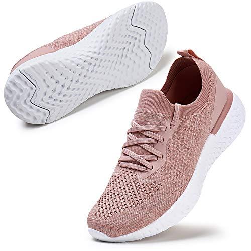 ZHR Laufschuhe Damen Sportschuhe Hypersoft Sneaker Joggingschuhe Turnschuhe Walkingschuhe Traillauf Fitness Schuhe Pink EU40