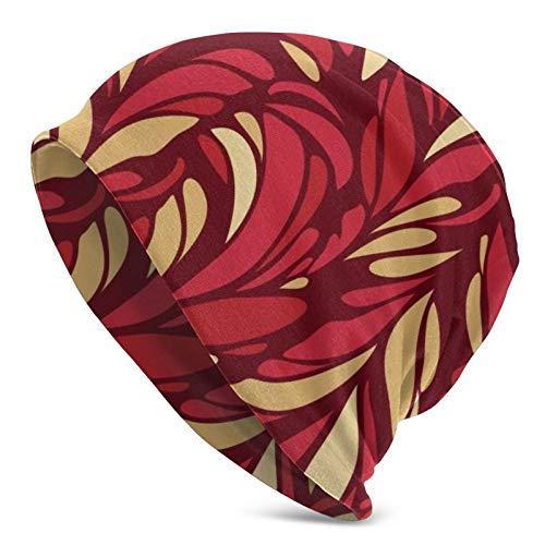 Flower Retro Women Ponytail Beanie Hat Knit Winter Warm Messy Bun Hat Cap Stretch Crochet Handmade Beanie for Women Ladies