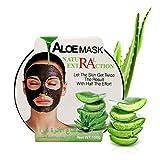 AINATU Aloe Vera Peel Off Facial Mask - Blackhead Removal Gel Sheet Masks for Anti-Aging, Deep Hydration Collagen and Antioxidants Repair Sun Damage Moisture Skin (ALOE MASK)