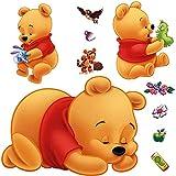 DEKOSH Kids Winnie Theme Peel & Stick Nursery...