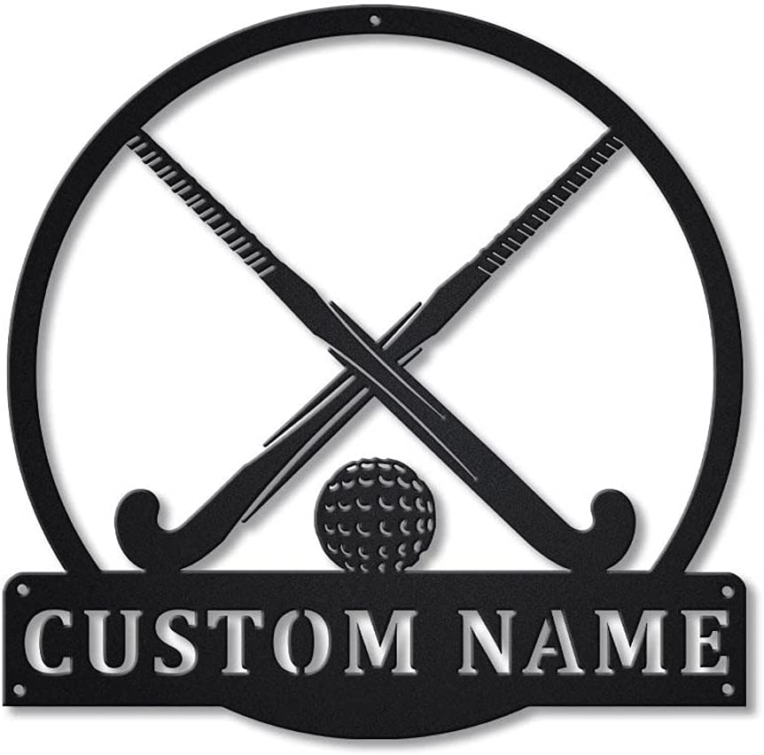 Weekly update Aihesui HGDBHD Metal Wall Art Field Hockey Decor Sign Sale item I for