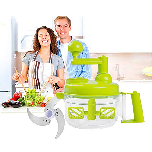K Kwokker Food Chopper Processor Best Household Tool Multi-Function Vegetable Meat Fruit Onion Garlics Shredder Manual Grinder Family Present Hand-held Harvest