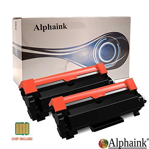 2 Toner Alphaink Compatibile con Brother TN-2420 versione da 3000 copie per stampanti Brother DCPL2510D 2512D 2530DW HL2310D 2350DW 2370DN 2372DN 2375DW MFC2710DW 2730DW 2750DW