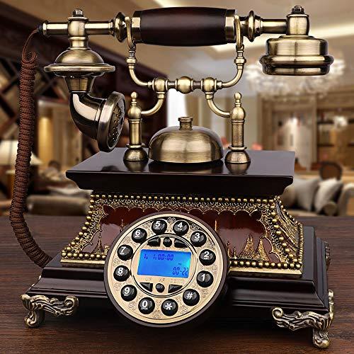 Pulsador Teléfono De Marcación Manos Libres Teléfono De Casa Retro Teléfono Fijo Timbre Mecánico Y Timbre Electrónico Timbre Doble, Adecuado para Sala De Estar, Oficina
