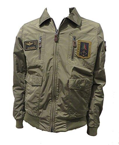 Aeronautica Militare Giubbotto AB1719 Verde Militare Pilota Uomo, Giacca, Polo, Pantalone, Felpa (33XL IT 56)