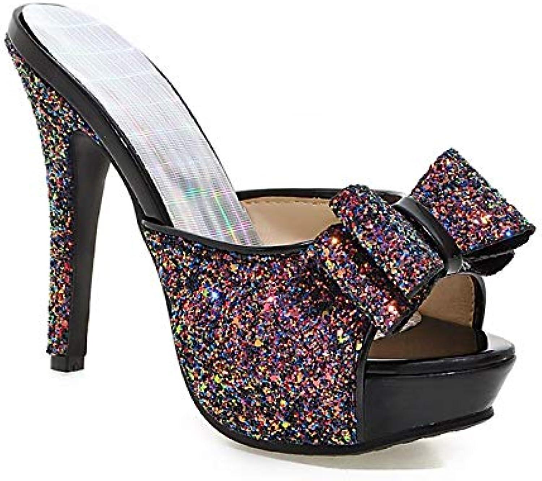 MENGLTX High Heels Sandalen Plus Gre 34-43 Frauen Sandalen Stiletto High Heels Mode Slides Sommer Party Hochzeit Schuhe Frau
