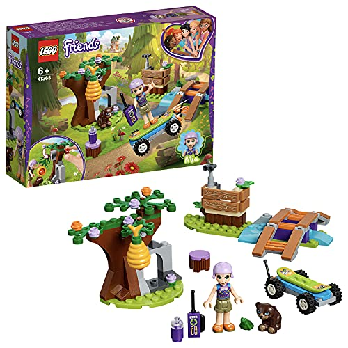LEGO Friends - Aventura en el Bosque de Mia, juguete creativo de construcción de aventuras con patinete y animales (41363)