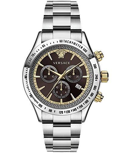 Versace Chrono Classic 44 D/BRW B/SS V304 VEV7004 19 - Reloj de Pulser