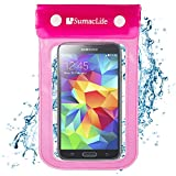 SumacLife Waterproof Pouch Case for Nokia Lumia 929 / Nokia lumia 1020 / Nokia lumia 630 / Nokia Lumia XL/LG G2 / LG G3 / Motorola Moto x (Pink)