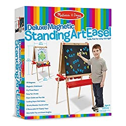 Melissa Doug Wooden Magnetic Art Easel for Kids Toddler Easel Learning Toy for kids Educational Toy for Toddlers blackboard easel painting easel
