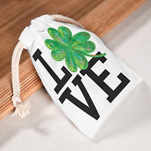 Dogedou St Patrick's Day Trekkoord Tassen Opslag Grote Maat Trekkoord Goodie Tassen voor Feesten 6 stks
