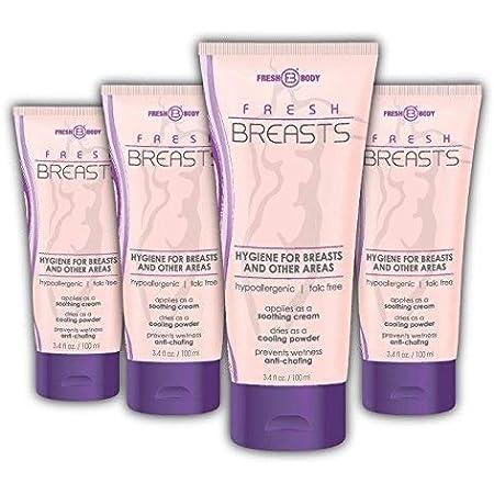 FRESH BREASTS Female Hygiene Antiperspirant 3.4 oz (4 PACK SPECIAL) Solution for Women
