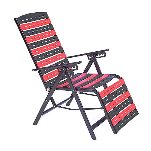 Y-LKUN Folding Chair Office Chair Recliner Chairs Garden Bed Pillow Zero Gravity Durable and Strong for Home Office Dining (Color : Black, Size : 66 95 98cm)
