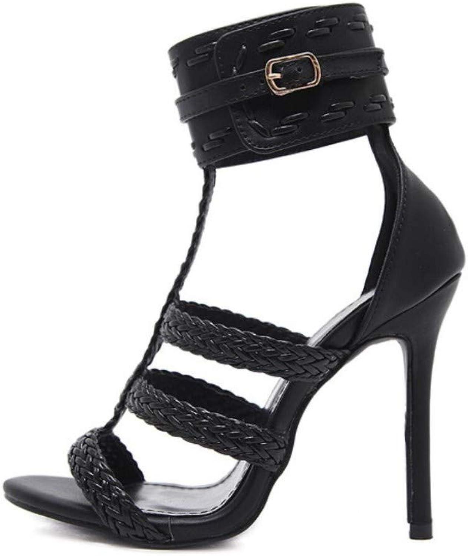 JQfashion Women's High Heel Sandals Roman shoes Pointed Stilettos Summer