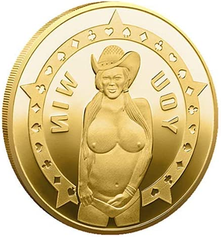 online shopping Wooer Luck Baby Ranking TOP13 Sexy Cowgirl Gold Flipping Challenge Plate Coin