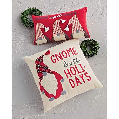 Mud Pie Navidad GNOME Throw Pillow