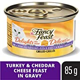 Fancy Feast Delights with Cheddar Grilled Turkey Wet Cat Food, 85 g, 24 Pack