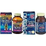 【セット買い】オリヒロ 高純度 グルコサミン 徳用 900粒(90日分) & フィッシュオイル