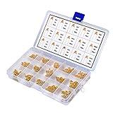 QLOUNI 450pz Condensatore Ceramico Assortimento Kit Multistrato 10 valore 50 V 10PF a 100 NF (Giallo)