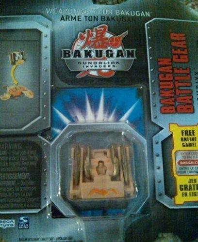 Bakugan Battle Gear Subterra Tan Chompixx with Gold attributes 80G