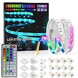 Tiras LED 12M, CNSUNWAY Luces LED RGB 5050 con Control Remoto de 44 Botones, Tira LED 20 Colores 8 Modos de Brillo y 6...