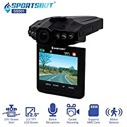Sportsbot Dash Cam With 2.5in LCD Screen $14.99