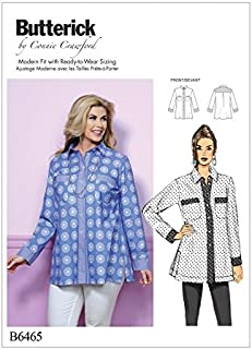 Butterick Ladies Easy Plus Size Sewing Pattern 6465 Button Down Shirts