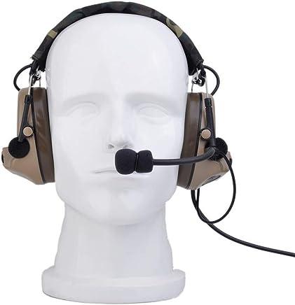 MIFAN Radio Militare Tactical Headset, Cuffie Elettroniche con Microfono - Riduzione del Rumore e Sound Pickup Sicurezza Cuffie