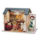 Handcraft Wooden Toy Dolls House LED Dollhouse Miniatura Muebles Kit DIY Regalo