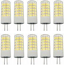 Led Bulbs, 10pcs G4 Base LED Light Bulb Lamp 5 Watt AC/DC 12V Non-dimmable Equivalent to 40W T3 Halogen Track Bulb Replace...