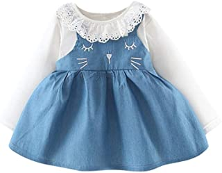 Christmas Merry Wishes 2020 New Girls' Princess Wedding Baptism Dress Long Sleeve Formal Party Wear for Toddler Baby Girls...