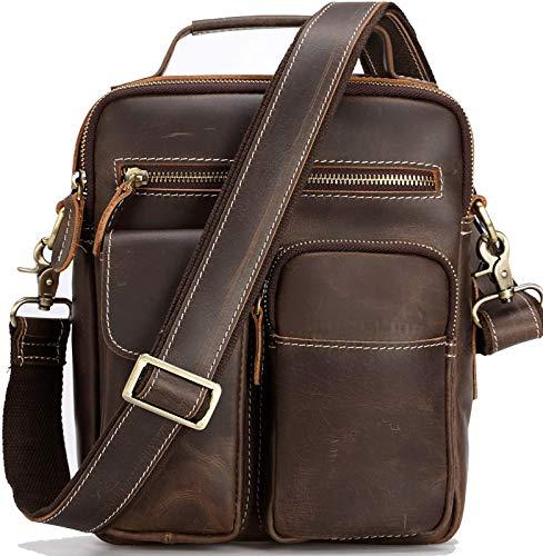Genuine Leather Messenger Bag for Men Crossbody Shoulder Bags Fits 11'...