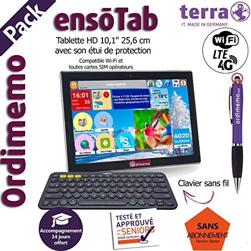 Ordimemo Pack Nouvelle Tablette Senior Terra 2/32...