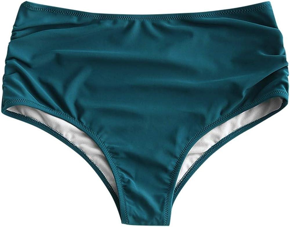 ZAFUL Womens High Waisted Bikini Swimsuit Full Coverage Bottoms