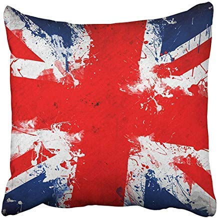 GFGKKGJFD507 - Fundas de cojín, diseño de la Bandera británica del Reino Unido en Grunge Technique Inglaterra Inglés Londres Artistic