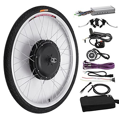 SKYWPOJU Equipo de conversión de la E-Bike de 48V 1000W MTB, conversión de la Bicicleta eléctrica de la Rueda 700C (Color : 28', Size : Front Wheel)