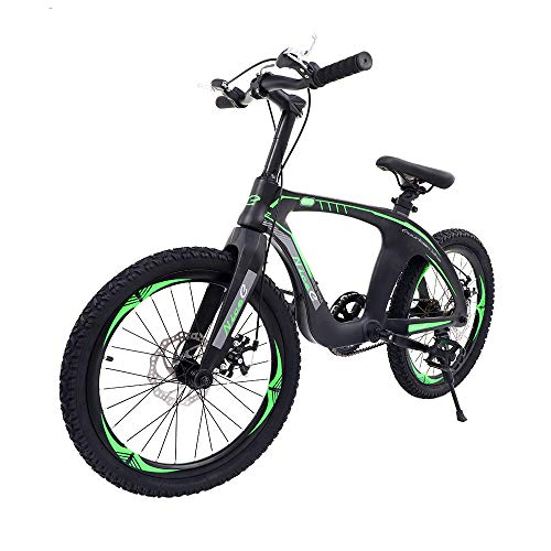 """Nice C BMX Bike, Mountain Bike, 20"""" Cycle Bicycle with Dual Disc Brakes, Ultralight for Boys and Girls (20' Black)"""