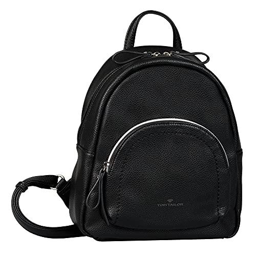 TOM TAILOR bags TINNA Damen Rucksack M, black, 25x12x27,5