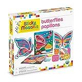 ORB Sticky Mosaics Butterflies Yellow/Blue/Pink/Purple/Pink, 12' x 2' x 10.75'