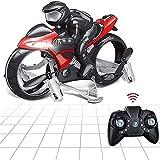 Motocicleta voladora – 22 minutos volando con – 2,4 GHz y 3,5 canales – Mini helicóptero para niños y adultos – Ideal como regalo,Rojo