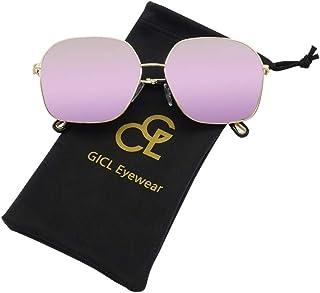 GICL Fashion Rectangular Sunglasses for Women Mirrored...