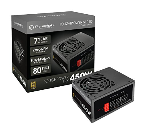 Thermaltake Toughpower SFX 450W 80+ Gold Fully Modular SFX 12V 3.3/ATX 12V 2.4 Power Supply 7 YR Warranty PS-STP-0450FPCGUS-G