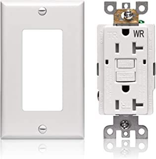 GFCI Outlet Receptacle 20 amp - WR Tamper Resistant Self-test End of Life Monitoring UL listed Electrical Outlets for Outdoor Ground Fault Circuit Interrupter Outlets