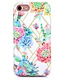 iPhone 7 iPhone 8 Case Double-Layered Full Coverage Protection Colorful Cactus Flower Pattern
