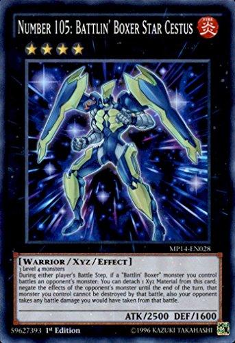 YU-GI-OH! - Number 105: Battlin39; Boxer Star Cestus (MP14-EN028) - Mega Pack 2014 - 1st Edition - Super Rare
