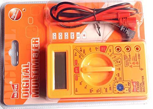 Robodo XTSDMM Dt830d Small Digital Multimeter, Yellow