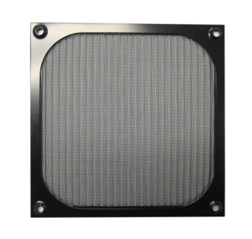 140mm Aluminum Fan Filter Grill Black