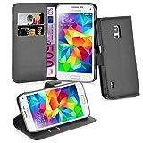 Cadorabo Coque pour Samsung Galaxy S5 Active en Noir DE Jais – Housse Protection avec Fermoire Magnétique, Stand Horizontal et Fente Carte – Portefeuille Etui Poche Folio Case Cover